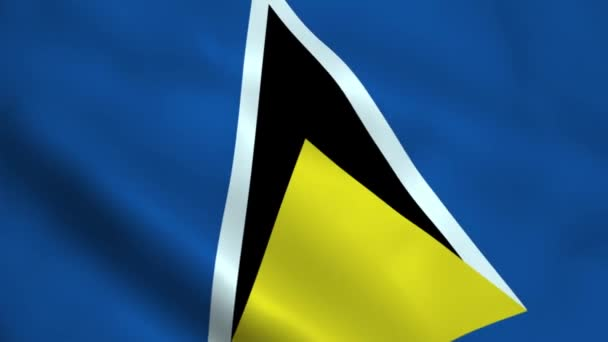 Realistické Svatá Lucie vlajka