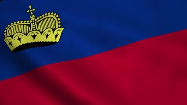 Realistic Liechtenstein flag