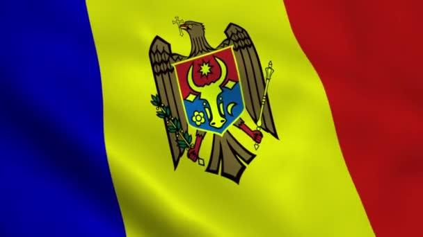 Realistic Moldova flag