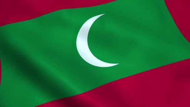 Realistické Malediv vlajka