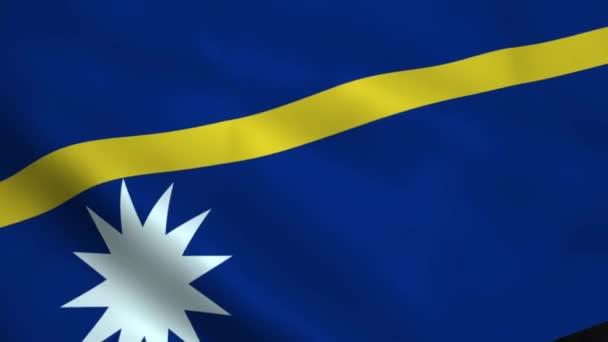 Realistické vlajka Nauru
