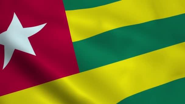 Realistic Togo flag