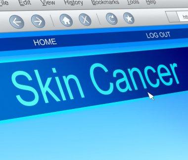 Skin cancer concept.