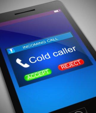 Cold caller concept.