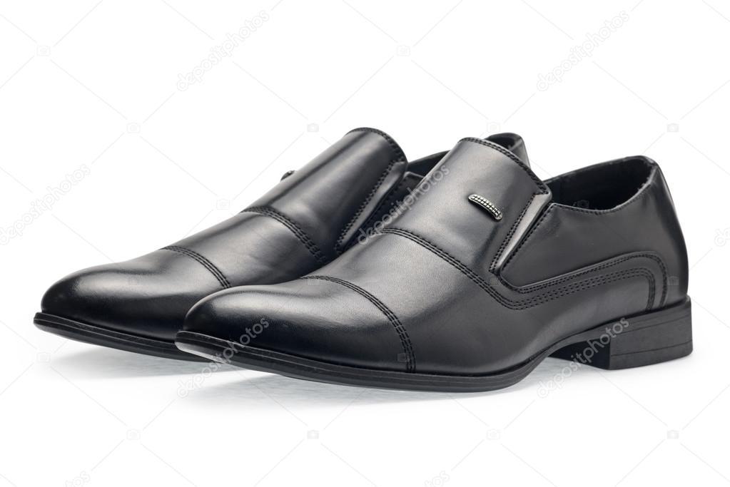 bd763d86a7b Ένα ζευγάρι παπούτσια της κλασικής μαύρο δέρμα για τους άνδρες, χωρίς  κορδόνι– εικόνα αρχείου