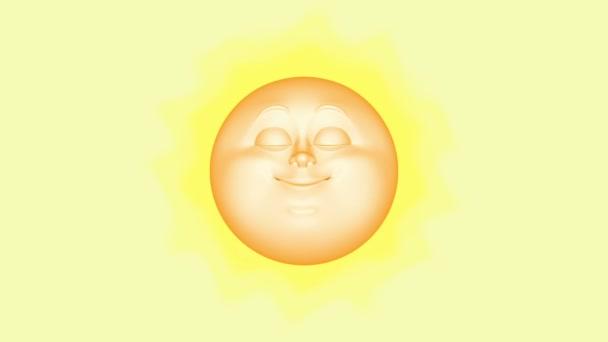 3D cartoon sun, seamless loop.