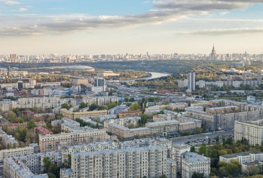Panoramic view of Moscow city