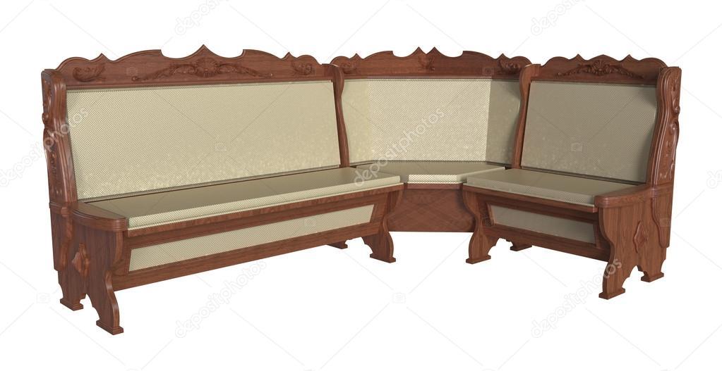 Divano angolare cucina in legno — Foto Stock © rimira15 #118638790