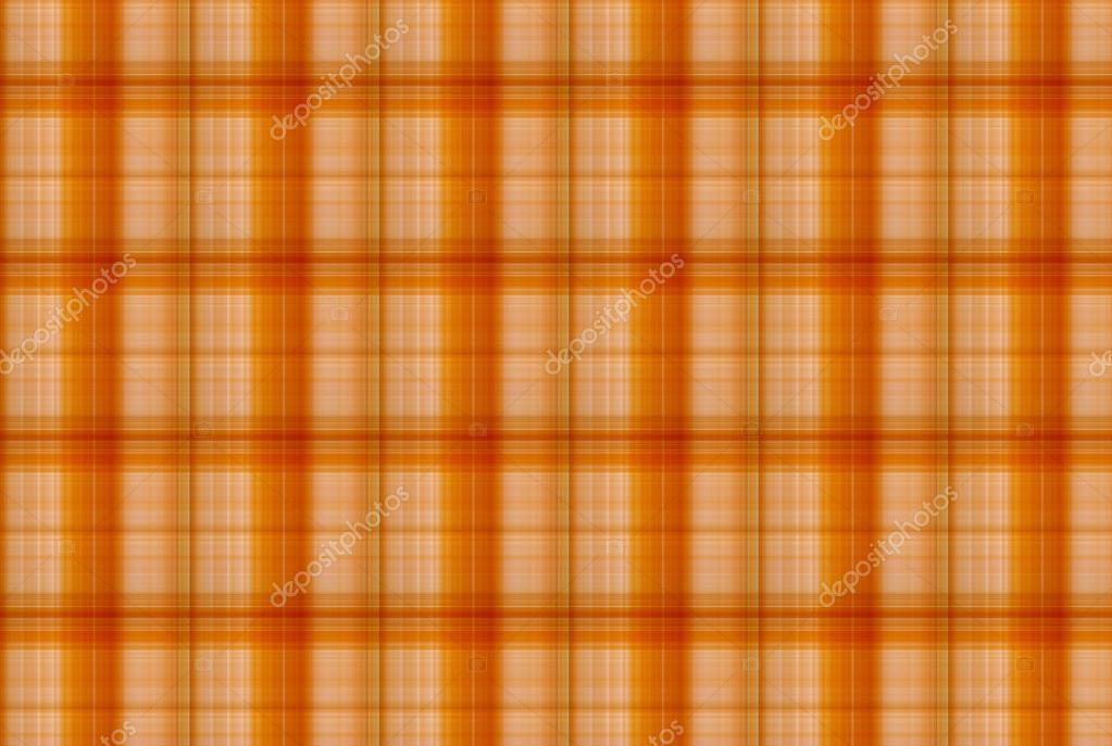Tartan Orange Muster Karierte Kleidung Tabelle Stockfoto