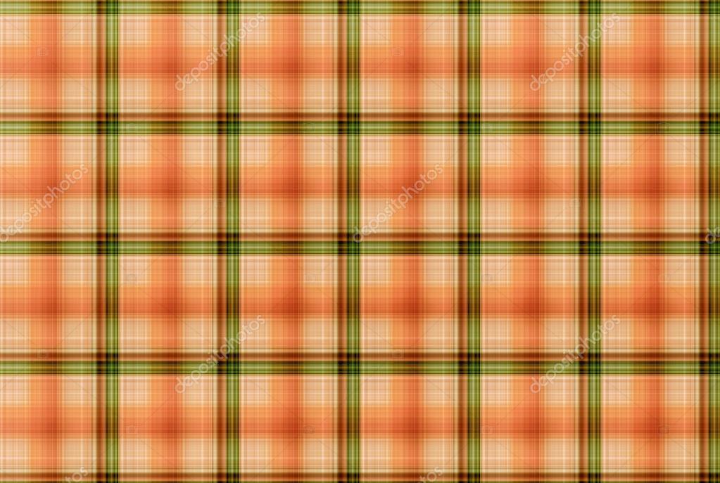 Tartan Orange Und Grün Muster Karierte Kleidung Tabelle