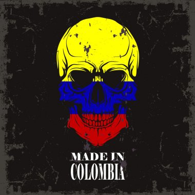Skull color of the flag of columbia
