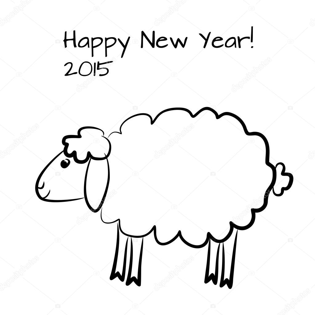 Weihnachten-Schafe zu skizzieren — Stockvektor © Artulina1 #55676905