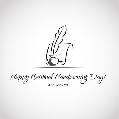 Card for national handwriting day