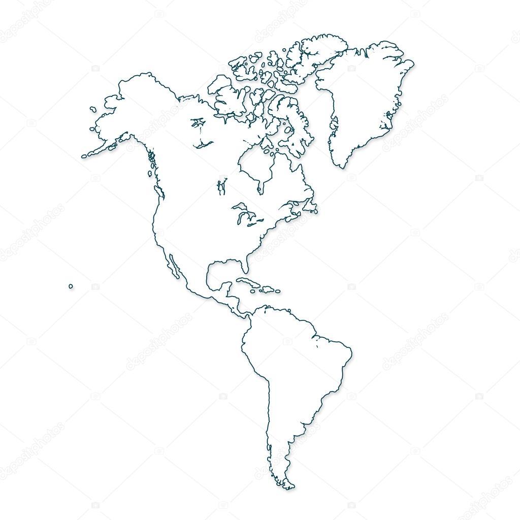 észak és dél amerika térkép Észak  és Dél Amerika Térkép — Stock Fotó © Lipowski #57283231 észak és dél amerika térkép