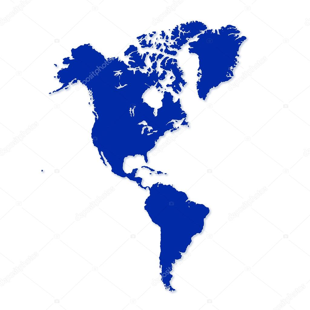 north and south america map — stock photo . north and south america map — stock photo © lipowski