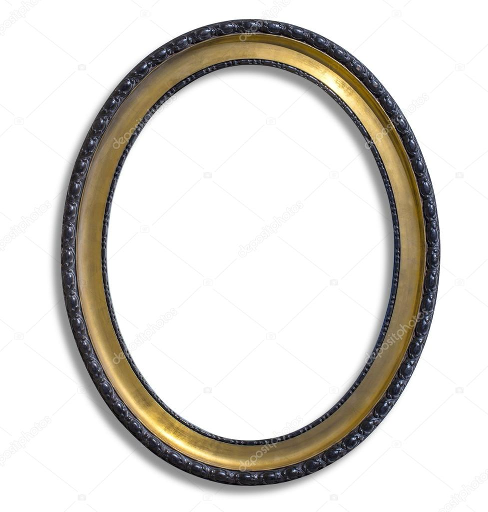 Ovale gold Bilderrahmen — Stockfoto © kornienkoalex #91186028