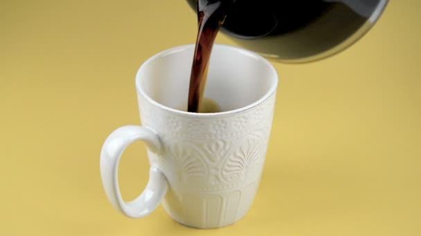 Csésze friss kávé