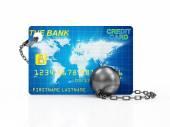 nehéz labda és lánc hitelkártyával