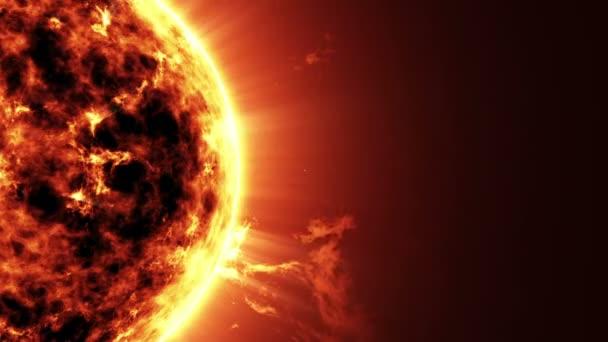 Velká hvězda slunce v prostoru