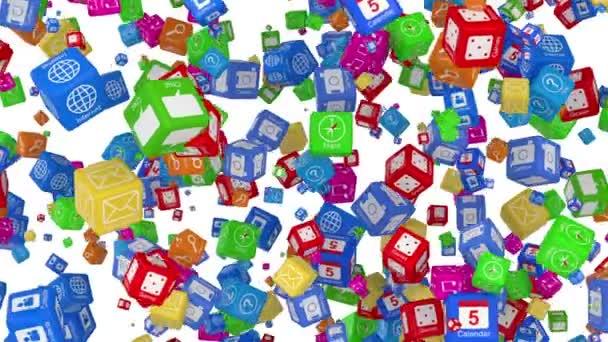 Mnoho aplikací ikony