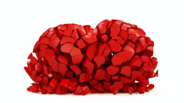 törött piros szív