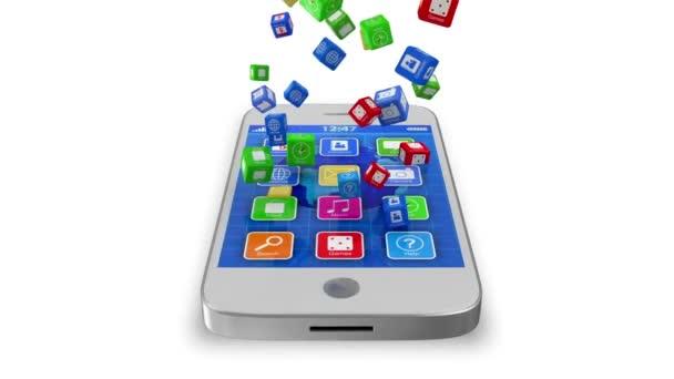 weiße Touchscreen-Smartphones synchronisieren