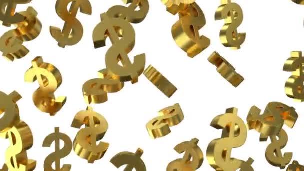 Golden Dollar Signs Falling