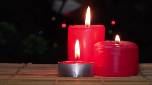 candele di Natale rosso