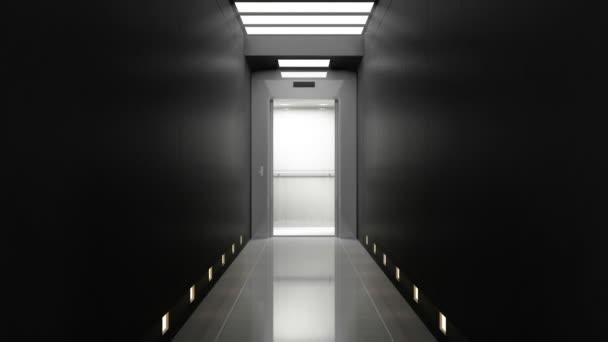 A luxus folyosón modern lift