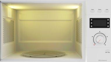 Empty Open Microwave Oven