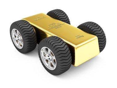 Golden Bar on Wheels