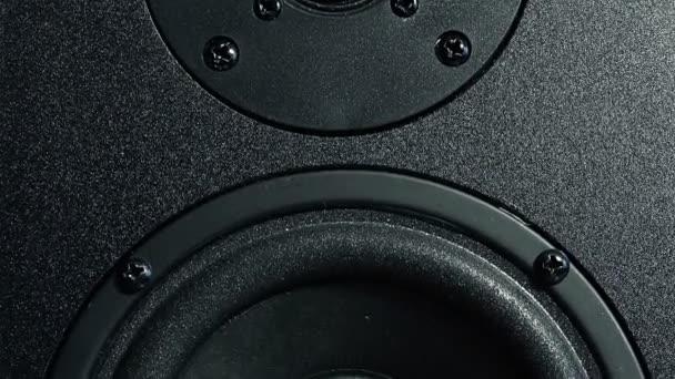 Fekete sztereó hangszóró