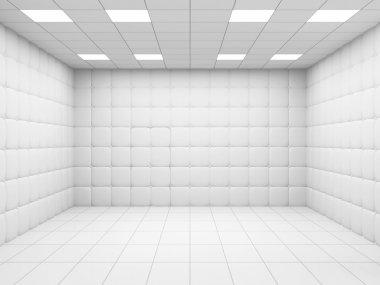 White Mental Hospital Room Interior