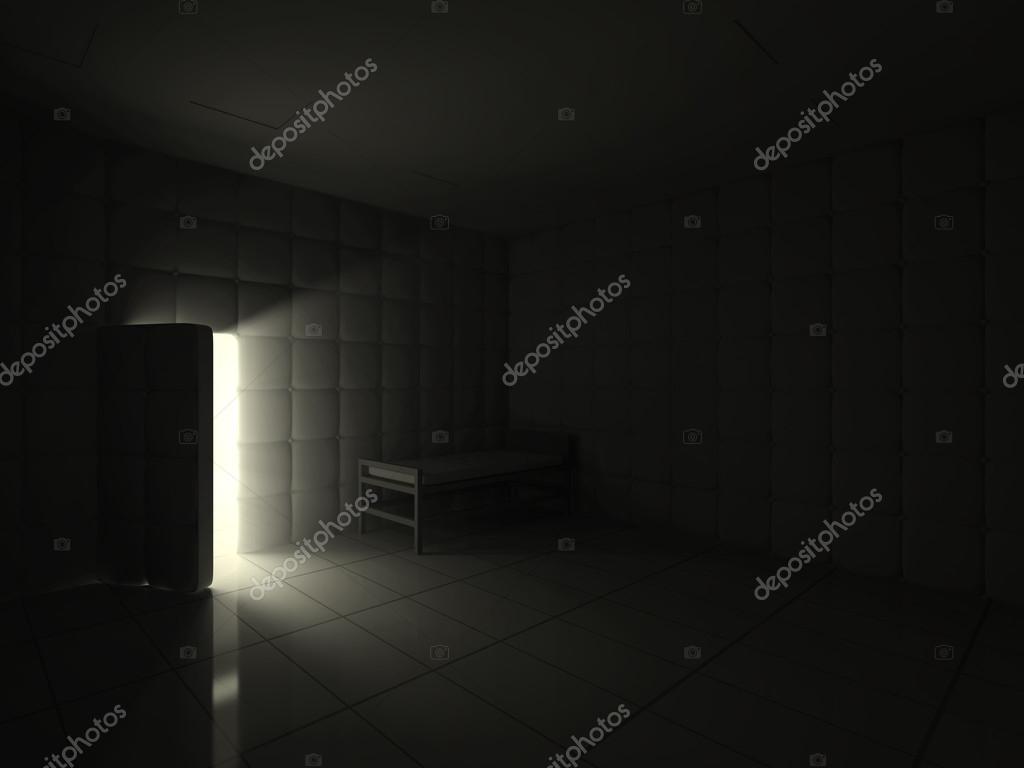 Geöffnete tür  Psychiatrischen Klinik Zimmer mit geöffnete Tür — Stockfoto © ras ...