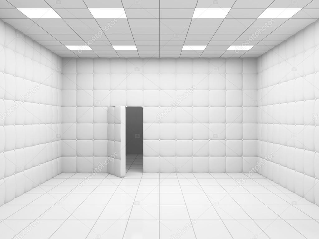 White Mental Hospital Room Interior — Stock Photo © ras-slava #73418663
