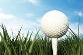 golfový míček na bílé tričko