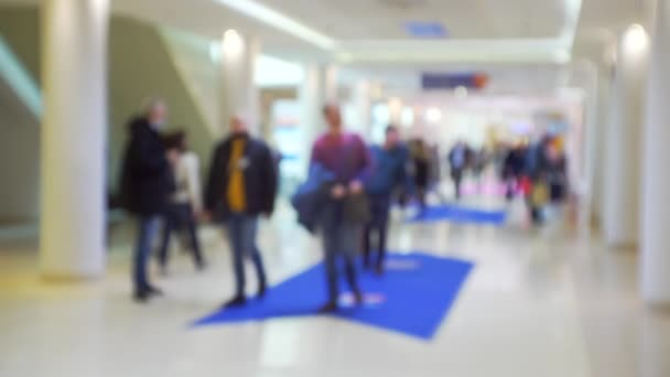 Business Background.Unrecognizable people in a modern business center.Blurred video