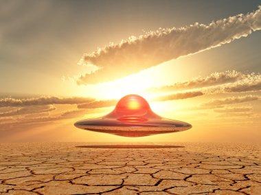 ufo landing in the desert