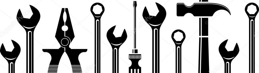 Seamless tools border — Stock Vector © panambapro #89453106