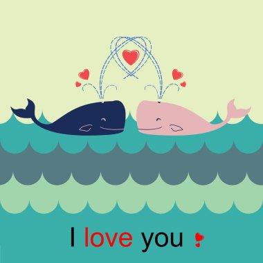 love whale card