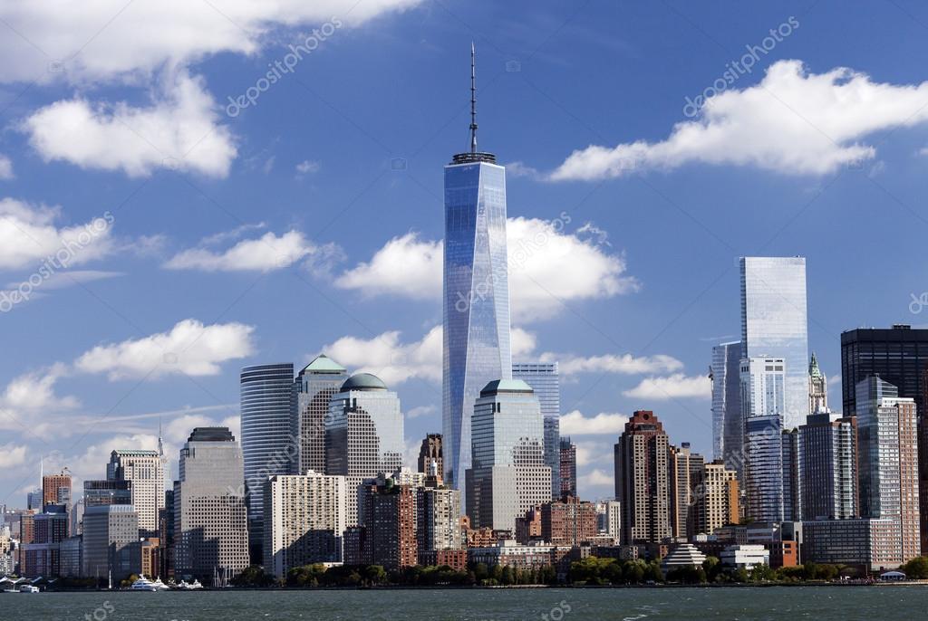 New York Freedom Tower In Lower Manhattan Redaktionelles