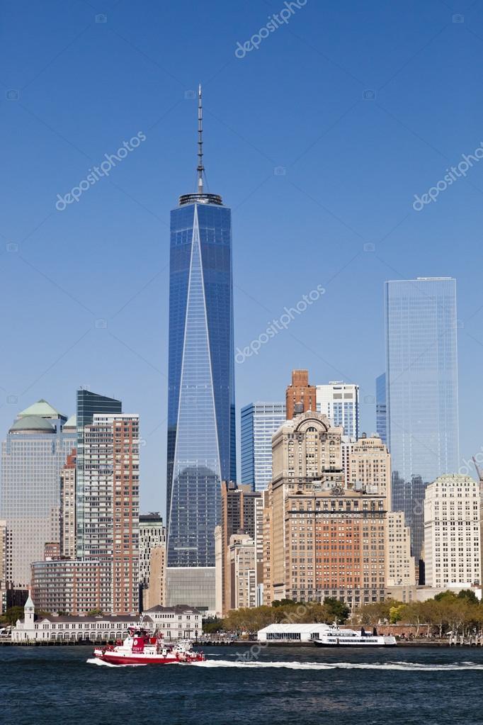 New York Usa Freedom Tower In Lower Manhattan Redaktionelles