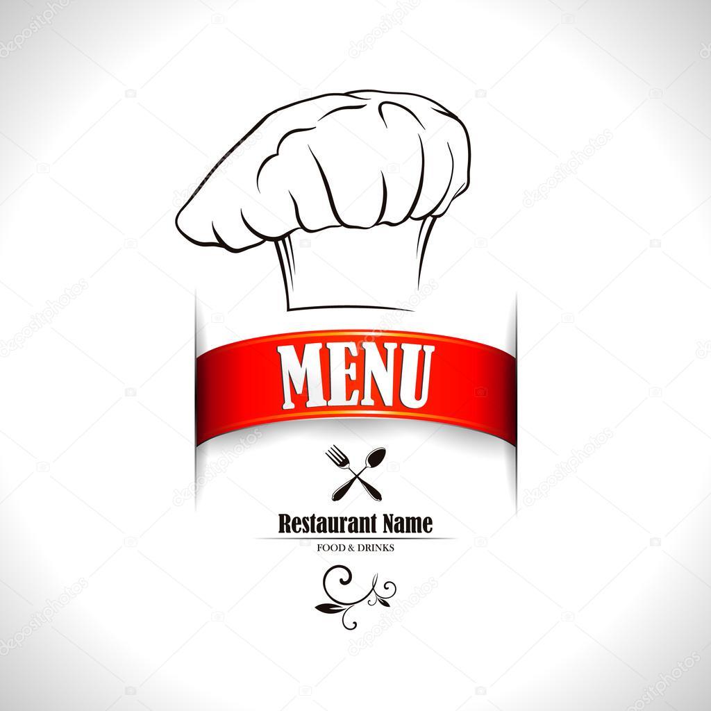 Restaurant menu design vector illustration — stock