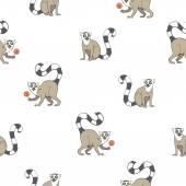Pattern with lemurs.