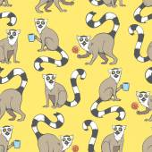 Fotografie Pattern with lemurs.