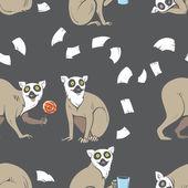 Fotografie Pattern with lemurs.
