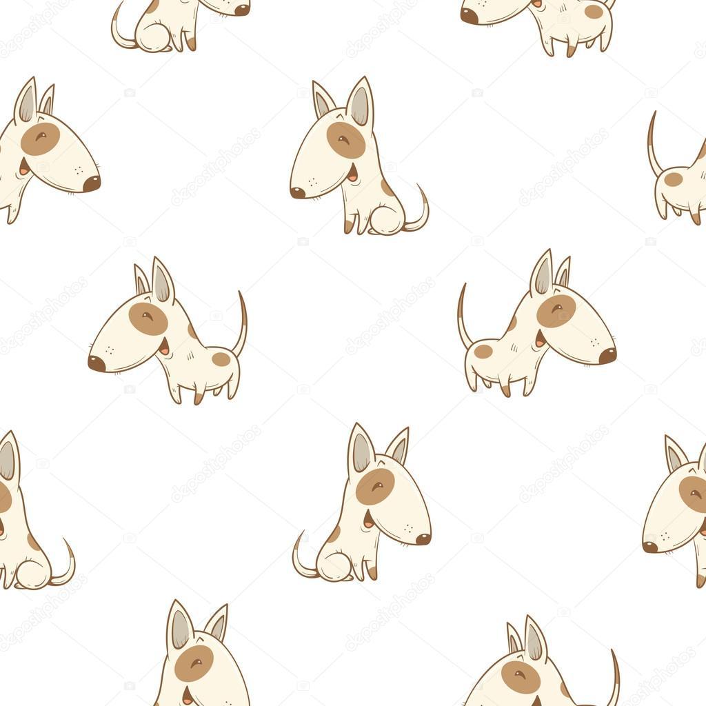 patrón con perros — Vector de stock © voron4ihina #116103398