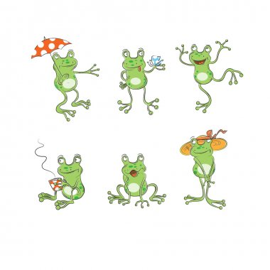 Set with frogs.