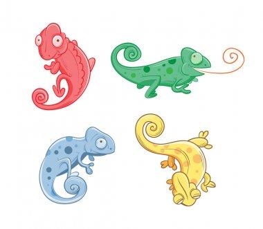 Set with chameleons.