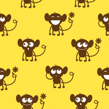 Pattern with monkeys.